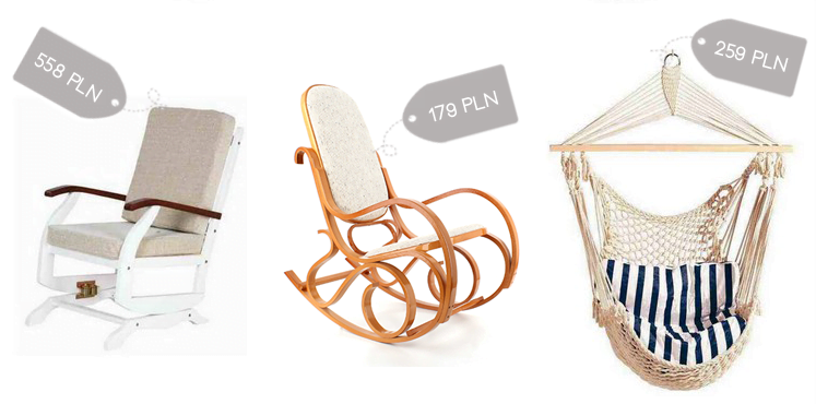 Rafał Klupś feeding chair, wicker rocking chair, hanging chair