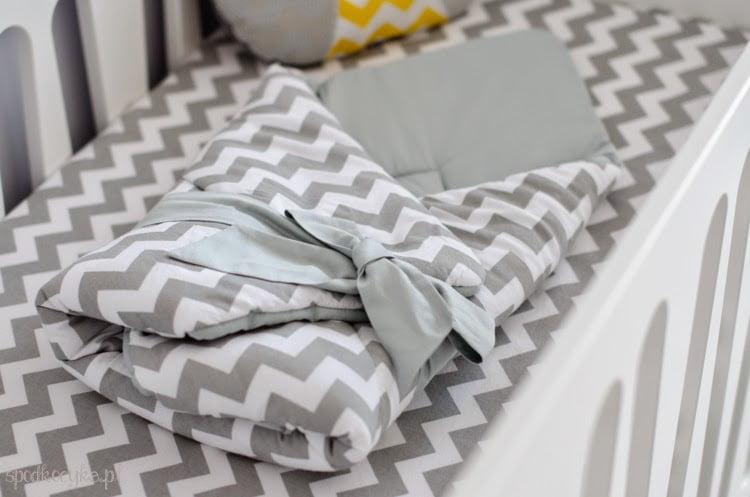 zigzag gray children's bedding