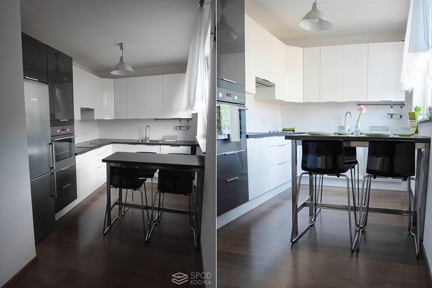 Homestaging w kuchni metamorfoza kuchni na sprzedaż wynajem mieszkanie przed i po na sprzedaż wynajem