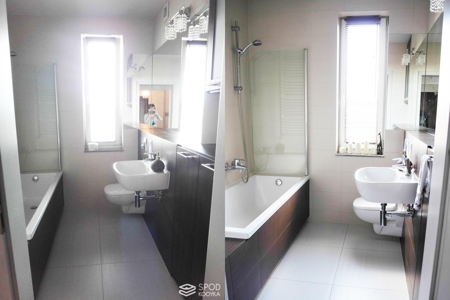 metamorfoza łazienki homestaging łazienki przed i po na sprzedaż wynajem