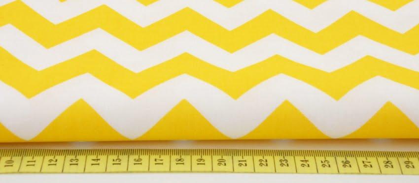 tkanina chevron zygzak żółty żółta