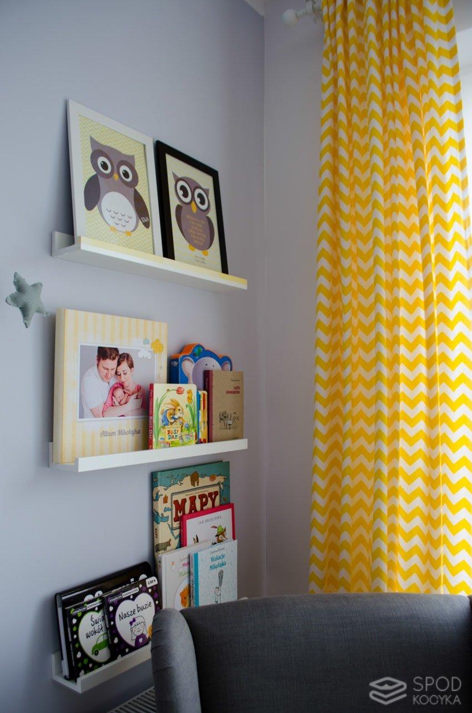 yellow chevron zigzag curtains