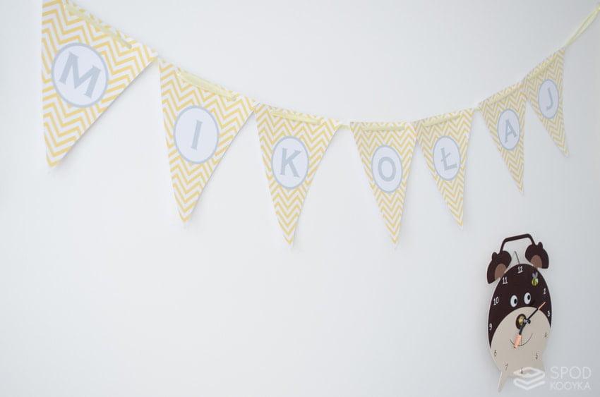 lettering baby name chevron santa claus banner yellow