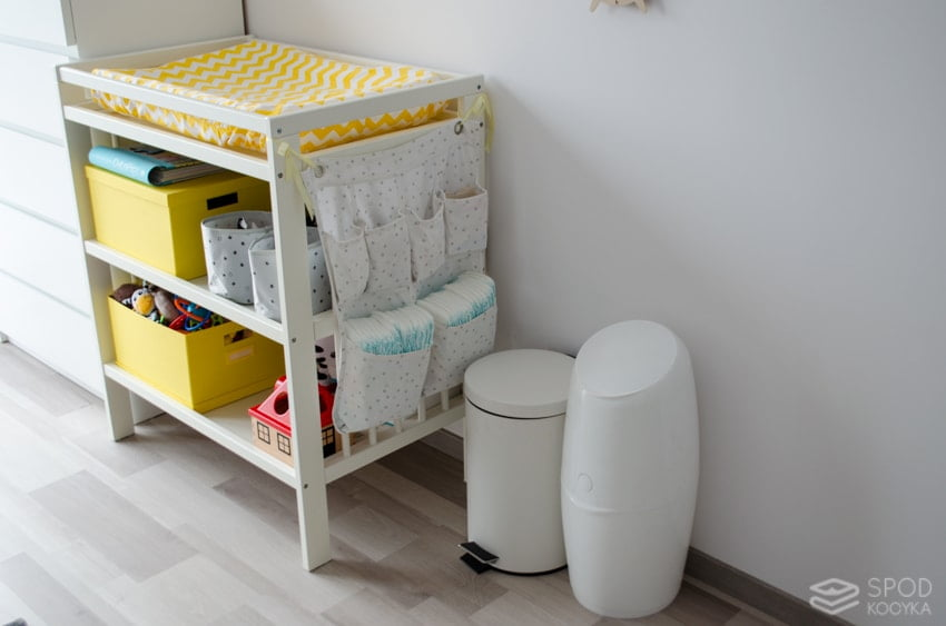 changing table basket for angelcare diapers