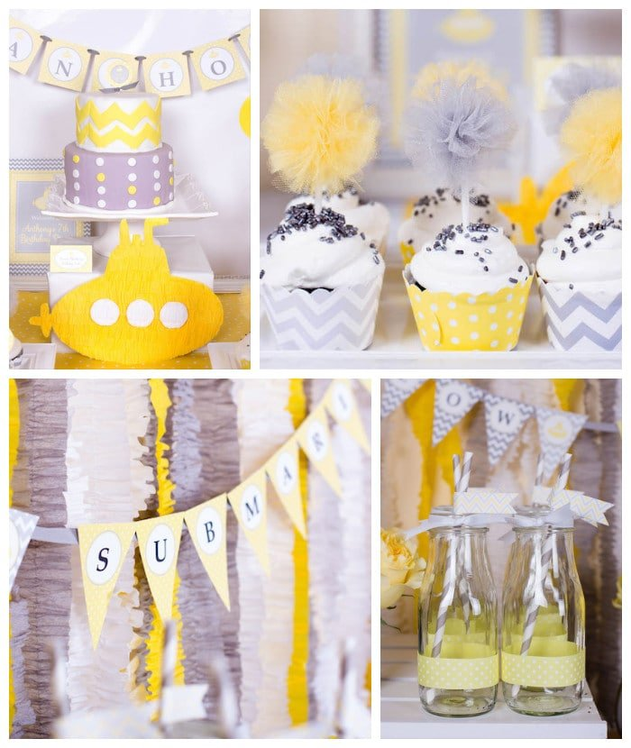 zigzag yellow gray birthday