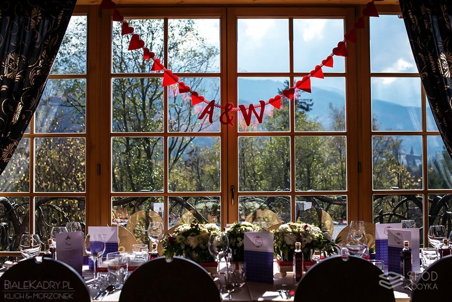 góralskie dekoracje ślubne
