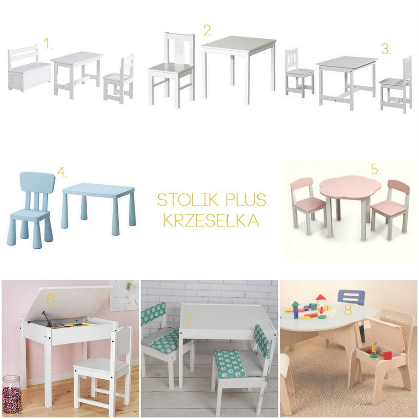 baby table and chairs