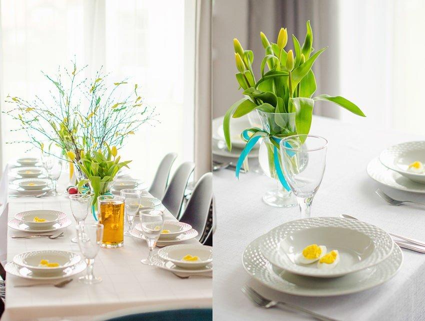 dekoracje wielkanoc blog wnętrzarski tulipany