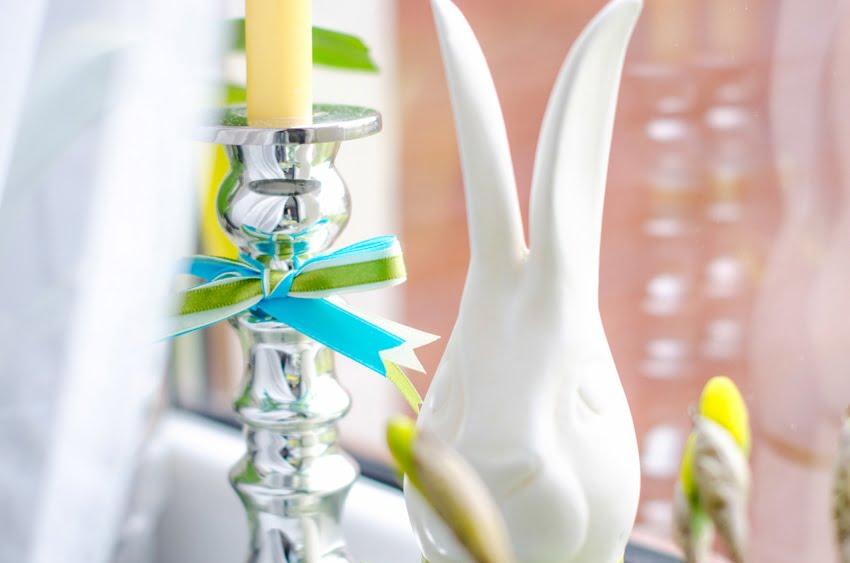 świecznik dekoracje wstążki blog