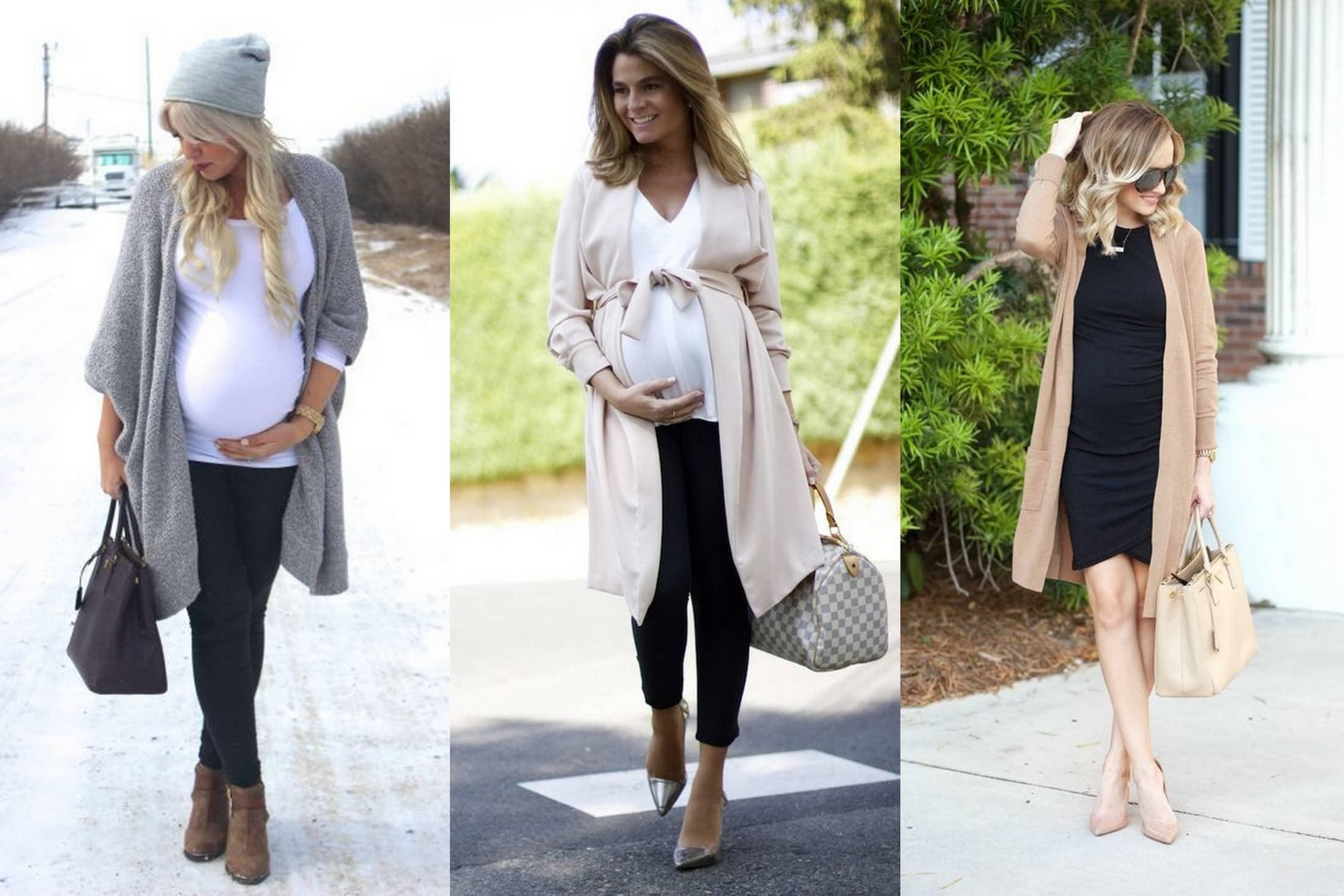 moda ciążowa długo sweter
