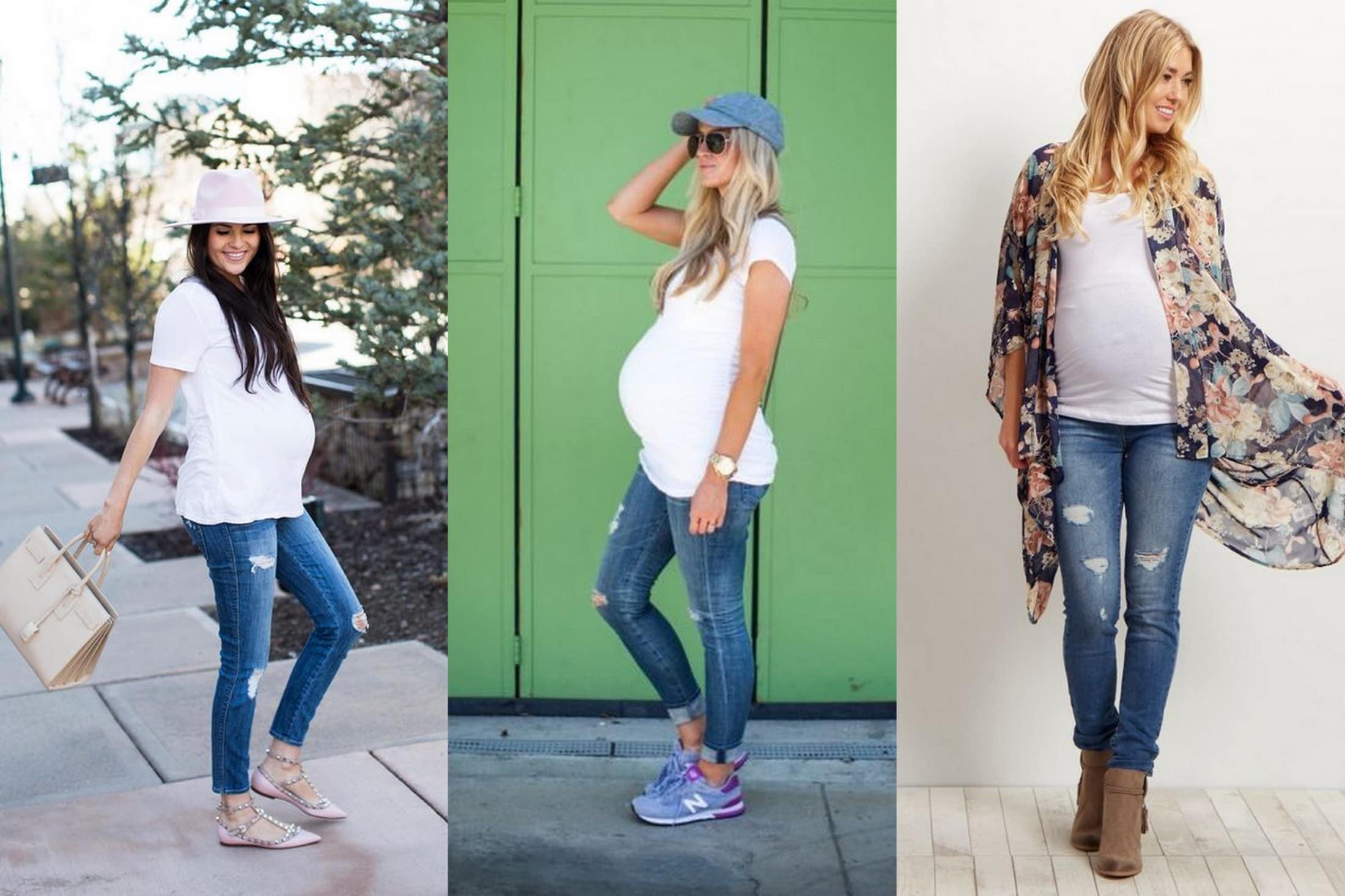 moda ciążowa jeansy