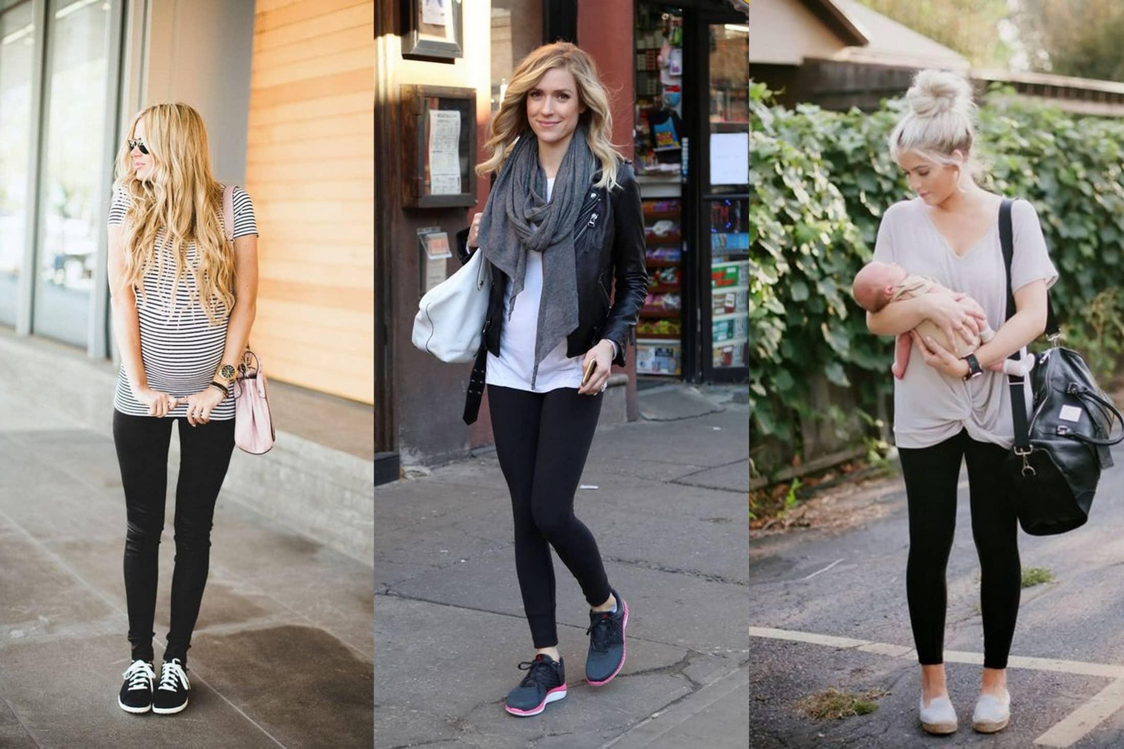 moda ciążowa legginsy