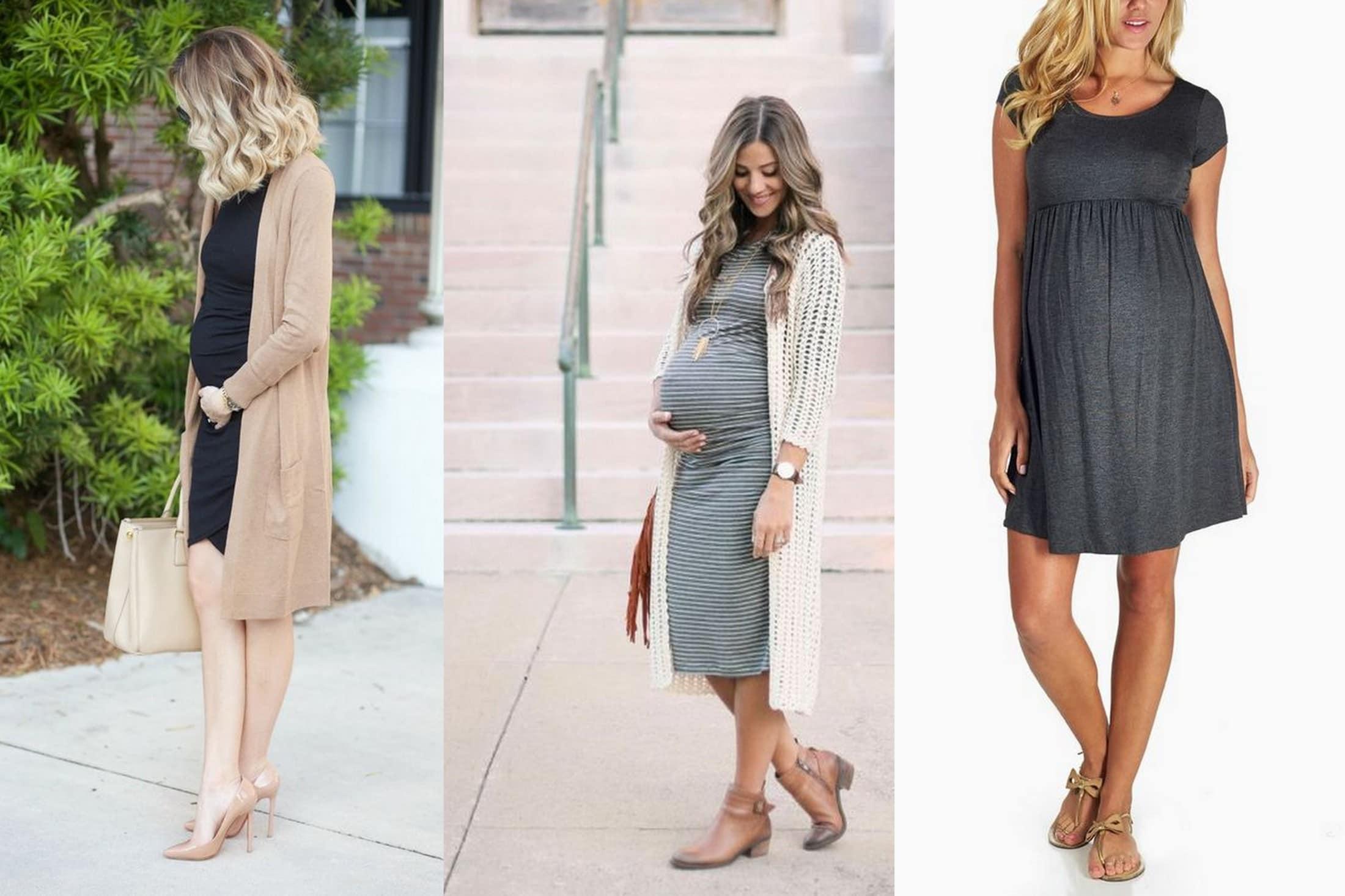 moda ciążowa sukienka