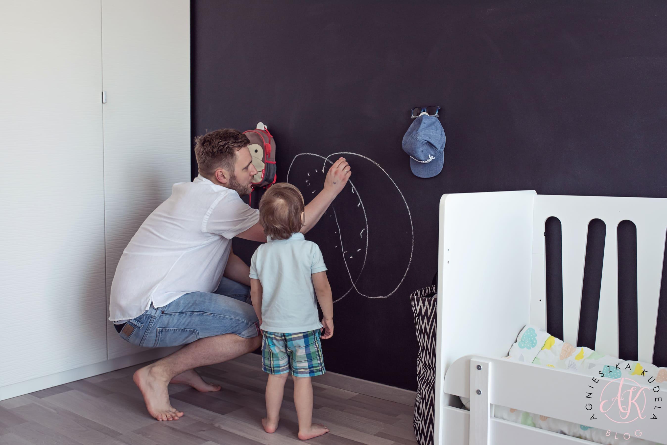 farba tablicowa w pokoju dla dzieci