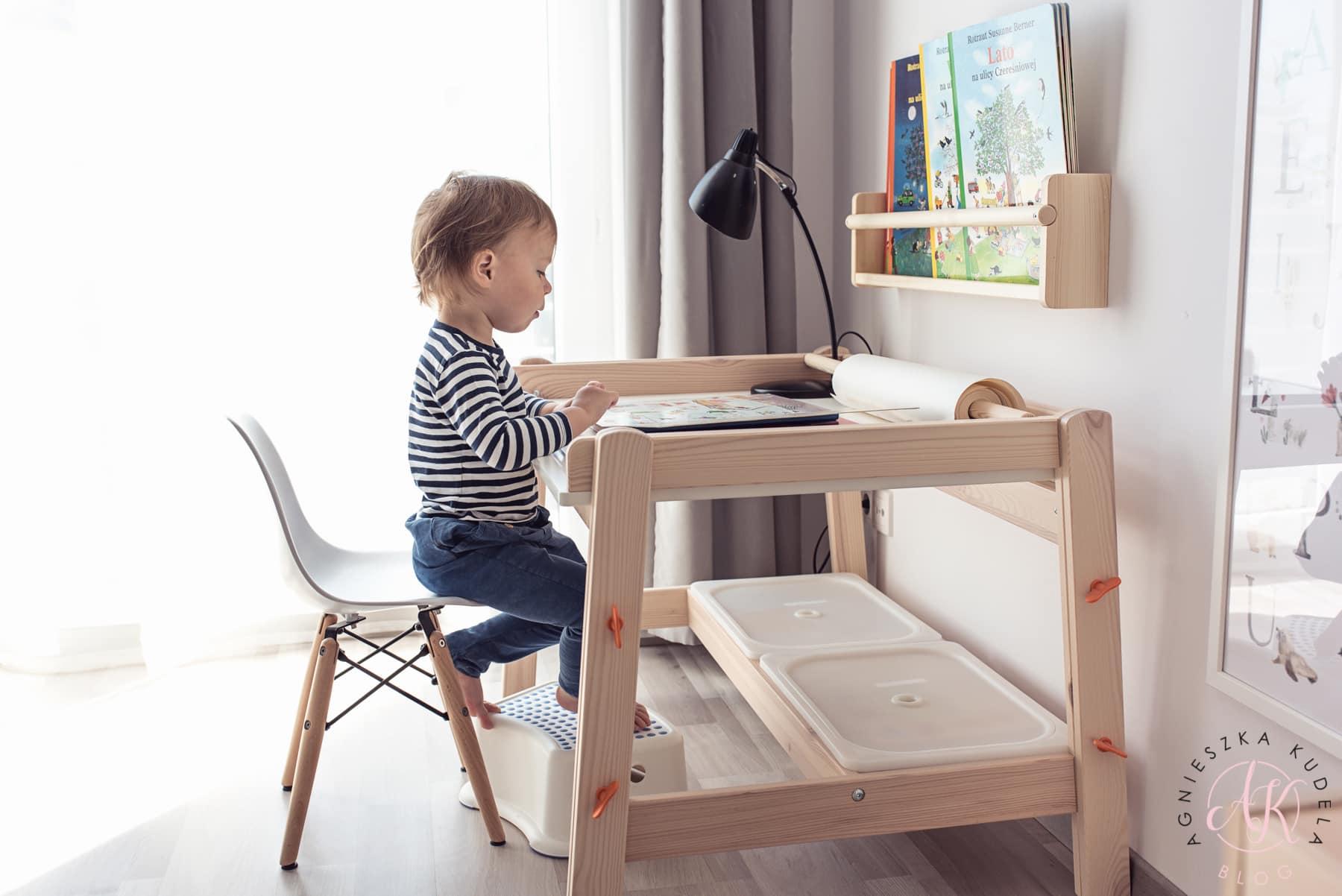 wysokość biurka dla dziecka