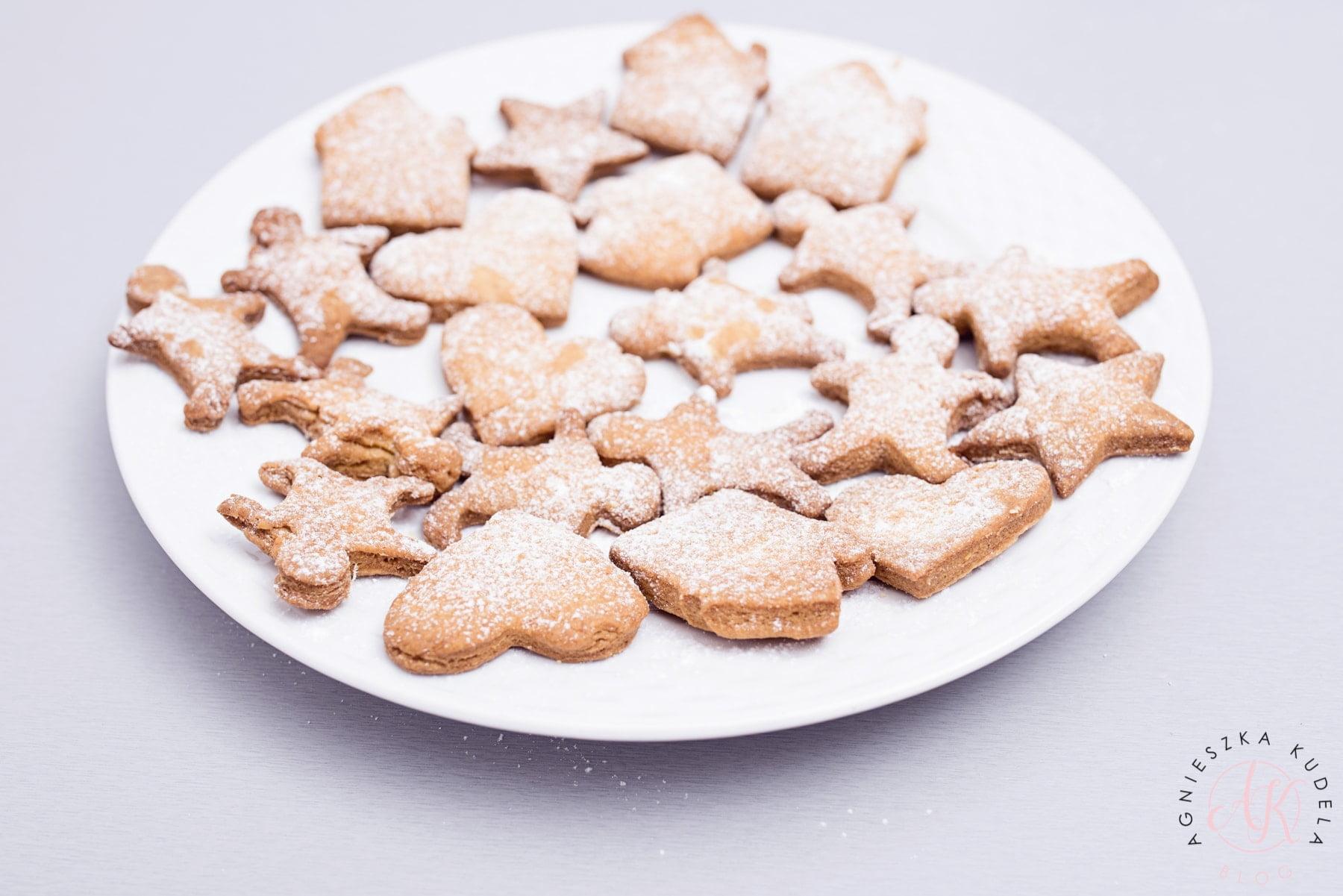 ciasteczka orkiszowe bez masła, mleka i cukru fit dla dzieci przepis