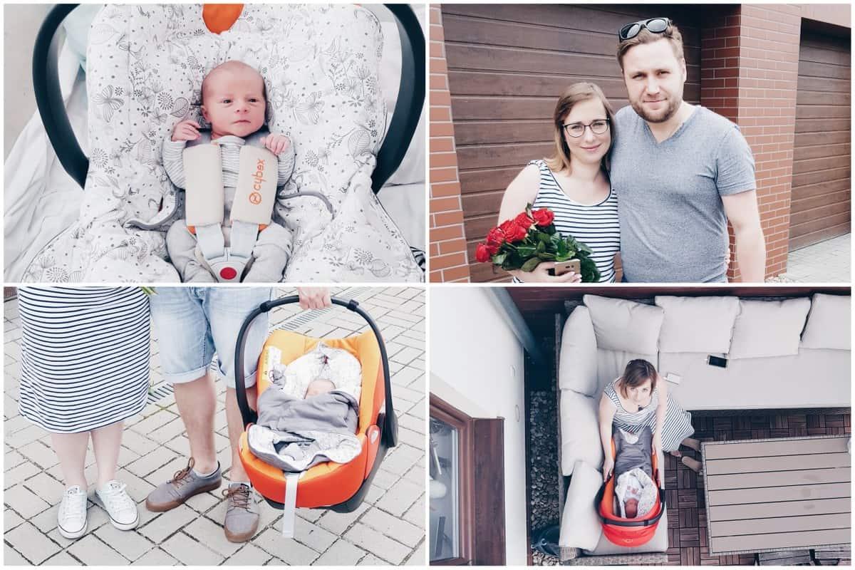 wyjście ze szpitala z noworodkiem