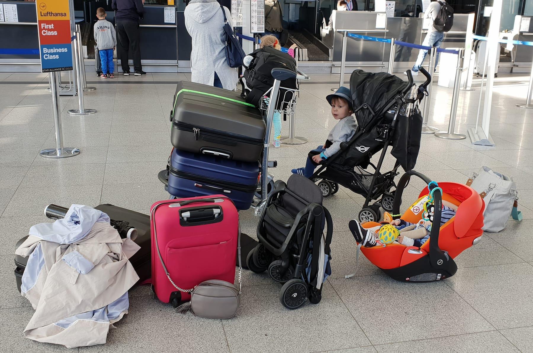 child on the plane