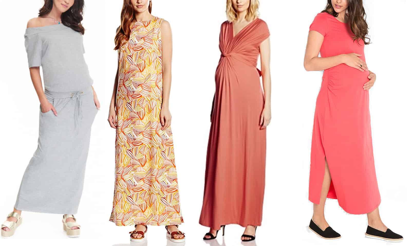 długie sukienki ciążowe