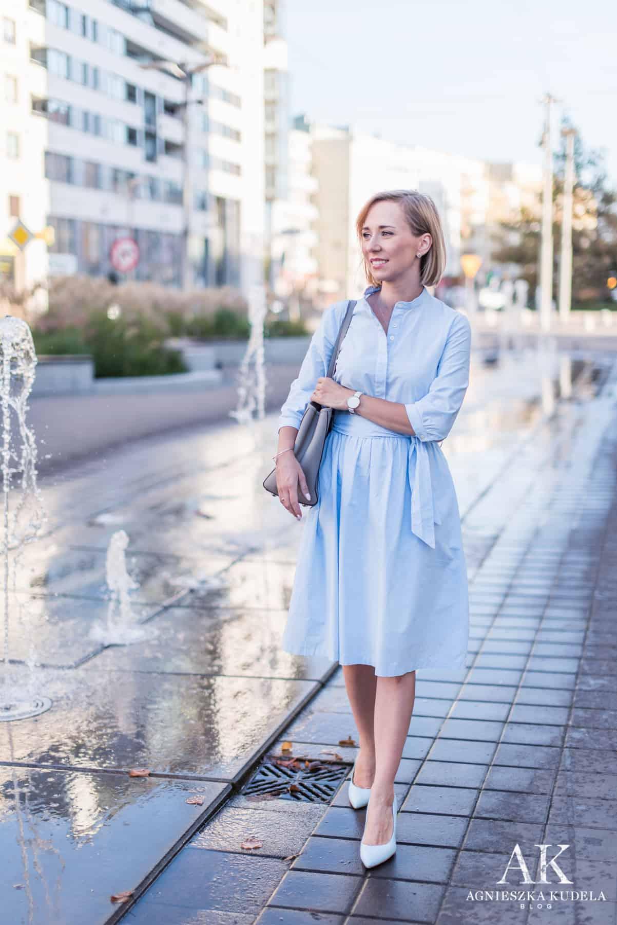 sukienka biznesowa typu szmizjerka
