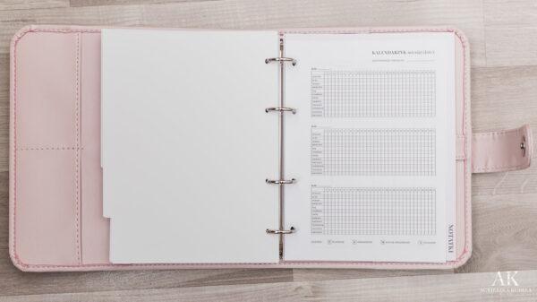 kalendarz planner 2020 kalendarzyk miesiączkowy
