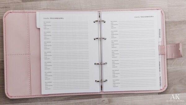 kalendarz planner 2020 książka teleadresowa