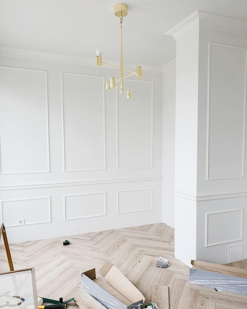 herringbone wooden floor