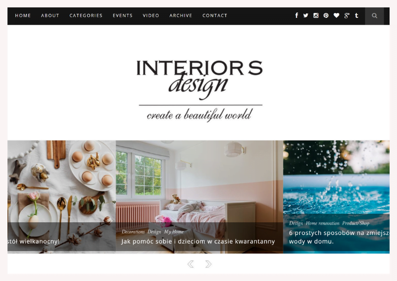 blogi wnetrzarskie interiors design