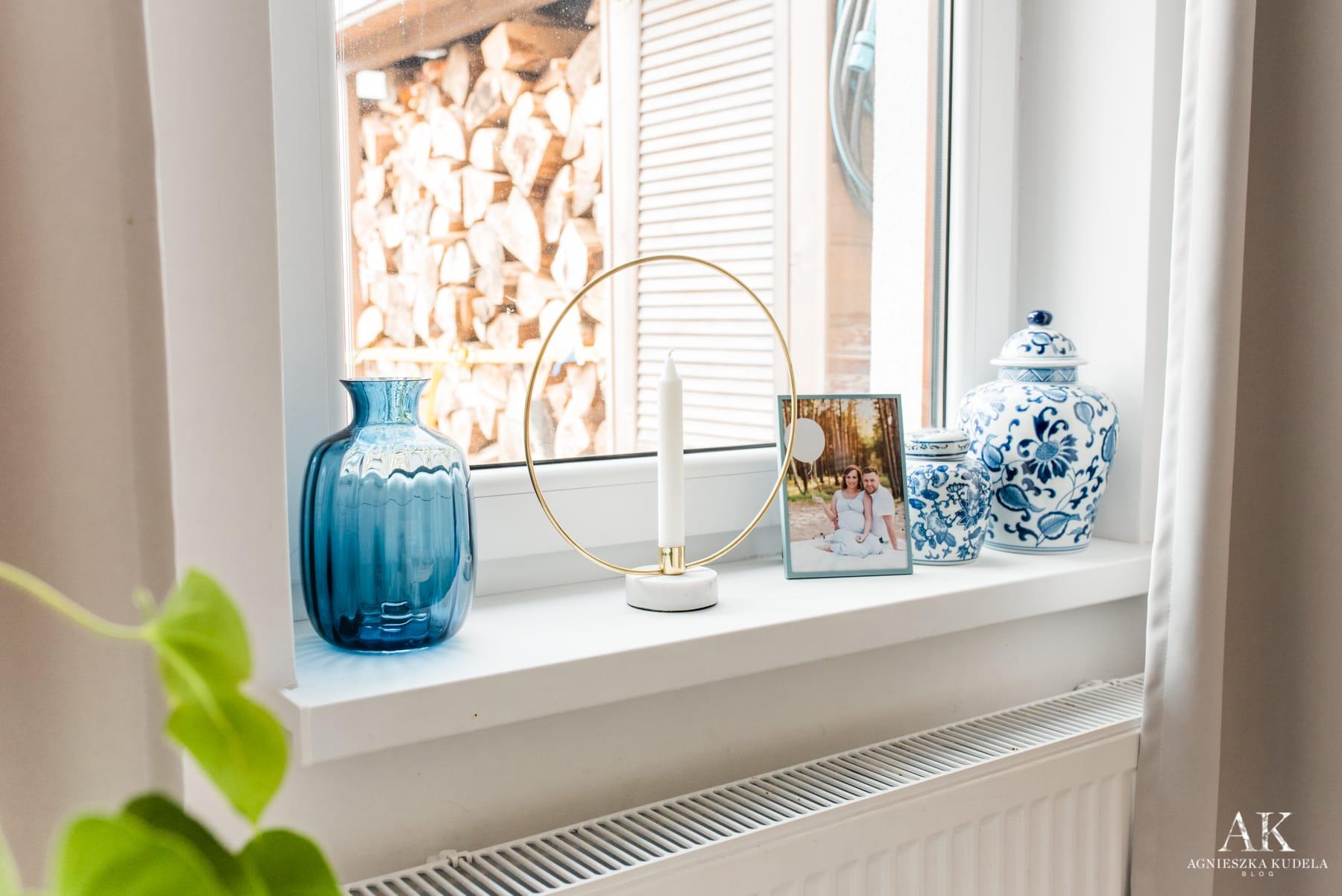 niebieskie dekoracje domu