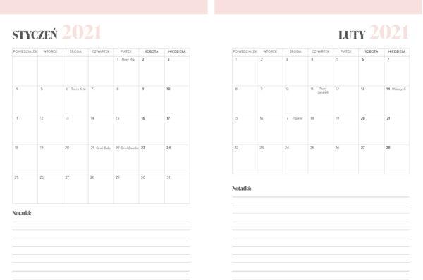 kalendarz 2021 widok miesięczny