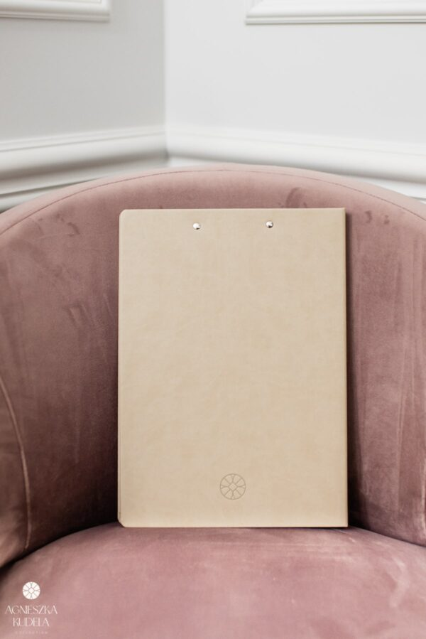 A4 document folder, beige, for women