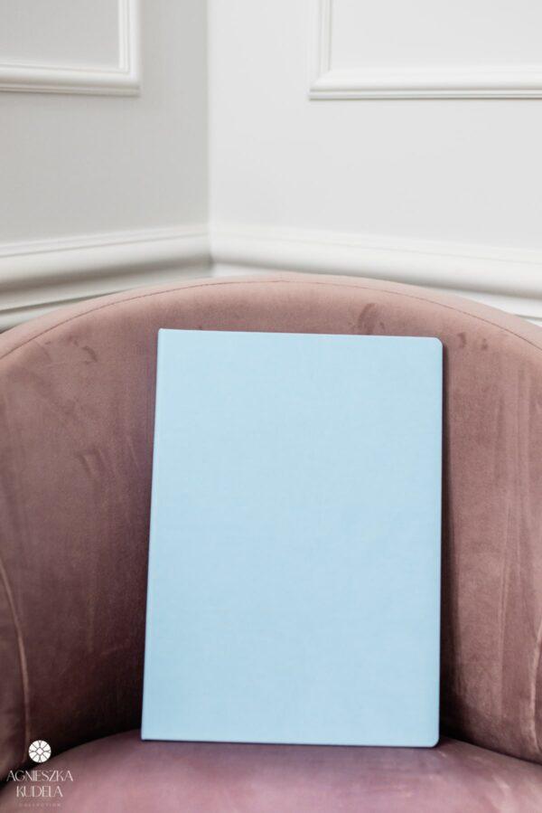 teczka na dokumenty A4 beżowa niebieska