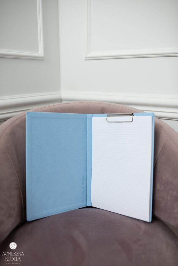 teczka na dokumenty A4 beżowa błękitna