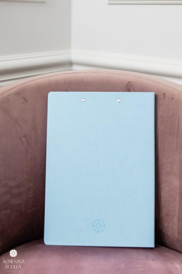 teczka na dokumenty A4 beżowa jasnoniebieska