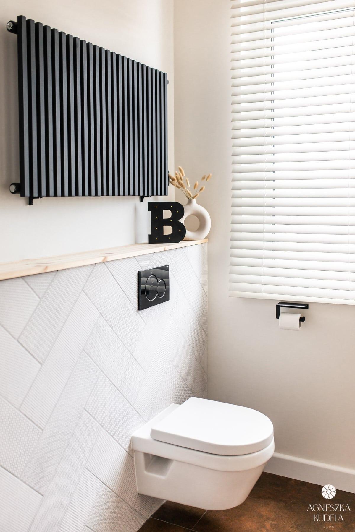 black radiator loft style bathroom