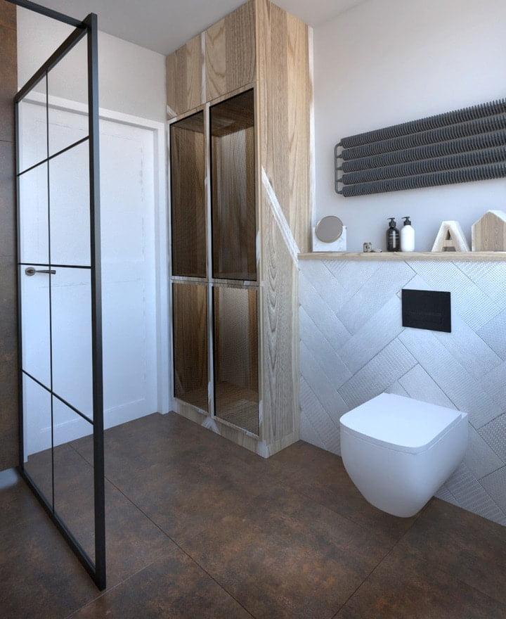 łazienka w stylu industrialnym projekt